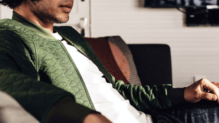 This Quilted Bomber Made of Recycled Polyester Is a Wardrobe Game-Changer