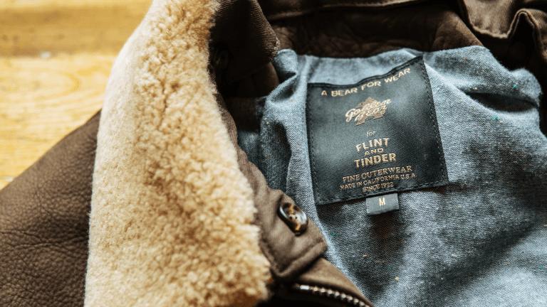 Flint and Tinder x Golden Bear Link Up on Über-Cool Leather Bomber
