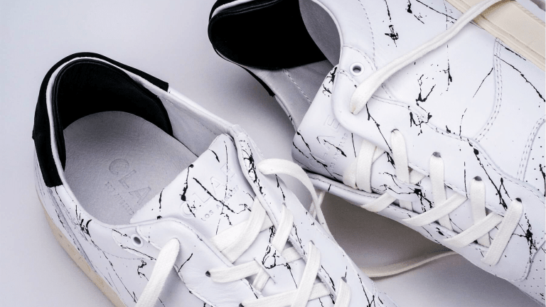Son of Cobra x Clae Release Marble-Effect Sneaker Collab