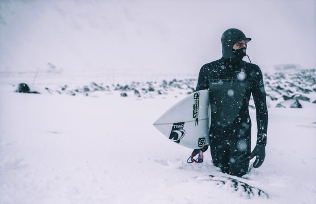 Chill-Inducing Video Of Surfers Riding Waves In The Arctic Circle