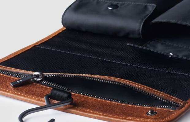 This Italian Tanned Leather Dopp Kit Is Something Every Traveler Needs