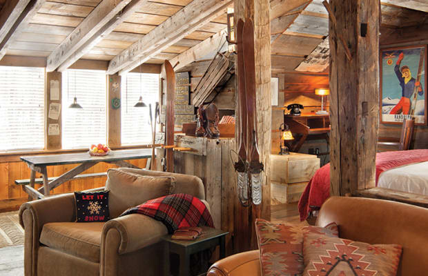 Inside A Stylish And Cozy Vermont Ski Lodge