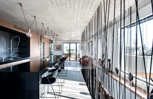 Inside A Tel Aviv Penthouse With A Dark And Moody Twist