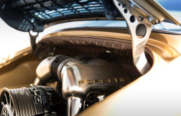8 Stunning Photos Of A Custom Gold Porsche