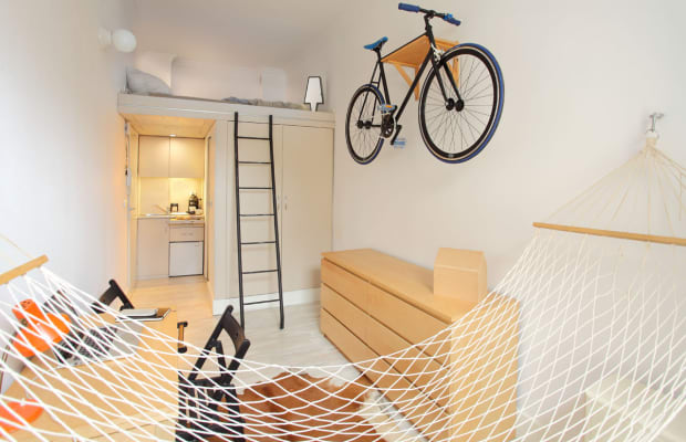 This Beautifully Minimal Bachelor Pad Packs Everything You Need In 140 Square Feet