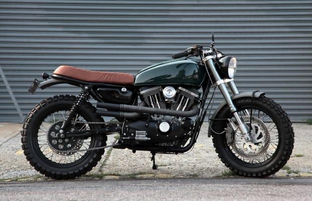 A Custom Harley Davidson Scrambler That Looks Like Something Steve McQueen Would Ride