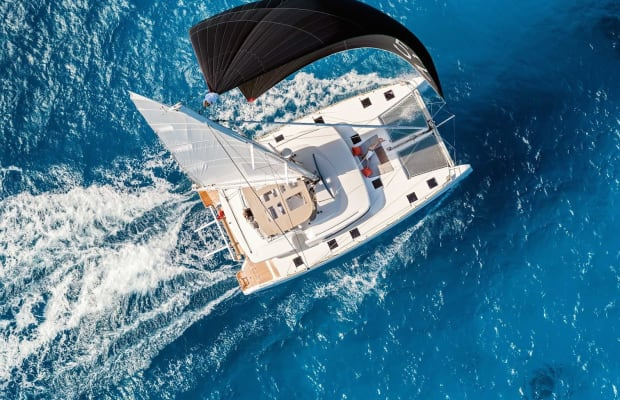 This 82-Foot Catamaran Doubles As The Coolest Coworking Office Space In The World