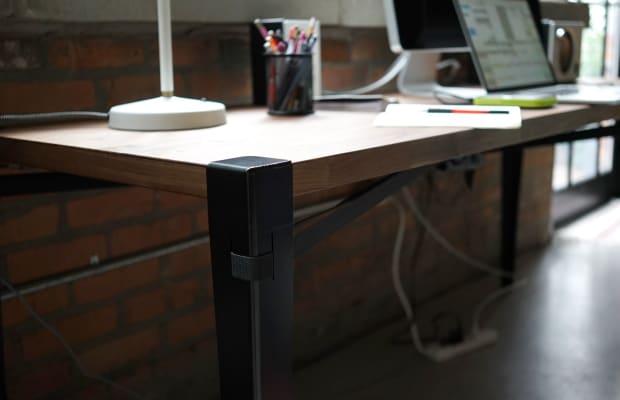 Stunning Slab Of Wood + Floyd Utility Set = Coolest Desk Possible