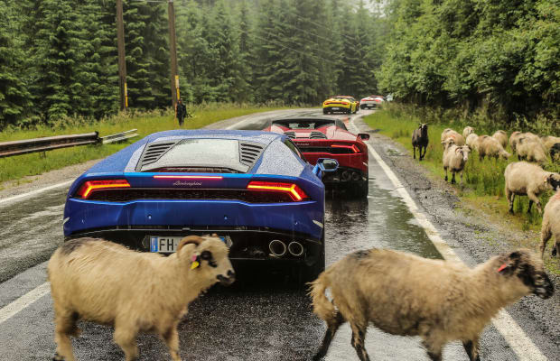 Nothing Goes Together Like Lamborghinis and One of the Most Beautiful Roads in the World