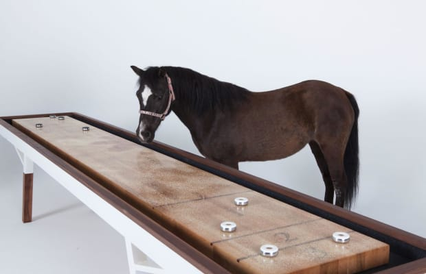 This Might Be the World's Prettiest Shuffleboard Table