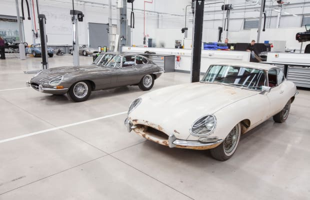 Inside Jaguar Land Rover's Classic Works Warehouse
