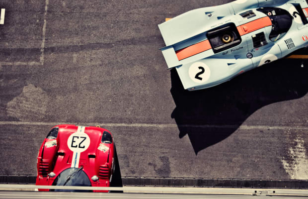 A Porsche 917 and Ferrari 512 Battle It Out in This Stunning Photo Set