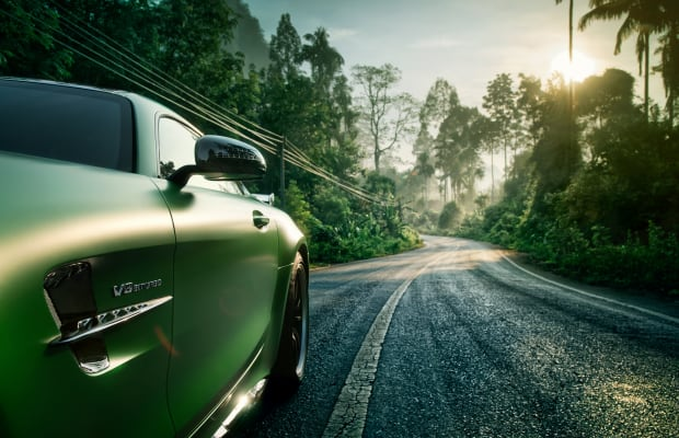 Get Lost In the Taiwanese Jungle With This Viridescent Mercedes AMG GT-R