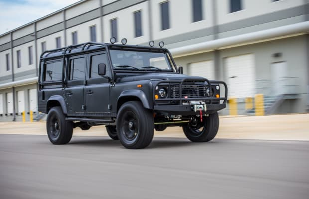 This Matte Black Custom Defender Has Style to Spare