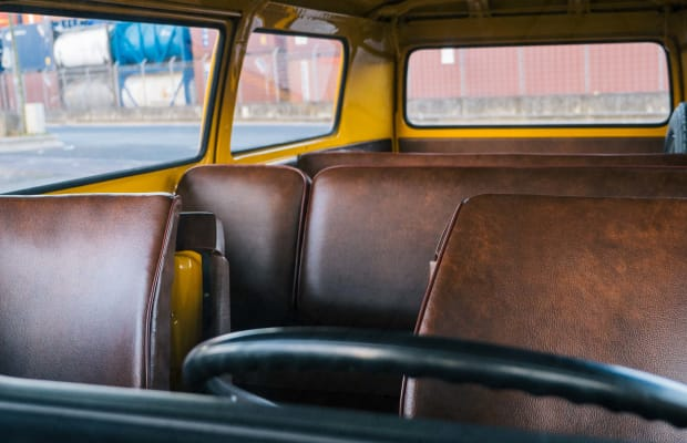 This Fully-Restored VW Bus Is the Coolest Way to Soccer Mom
