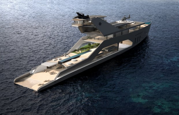 Finally, a Super Yacht With Its Own Private Beach