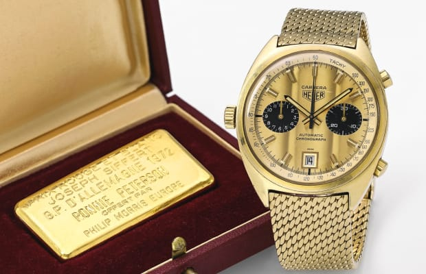 Score This One-Off Reissue of a Jack Heuer-Inscribed Solid Gold Carrera