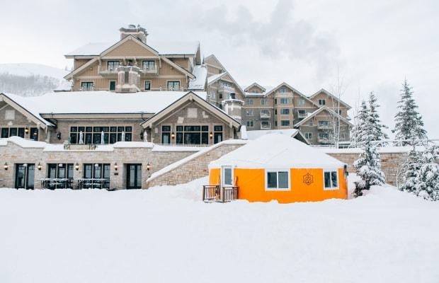 Inside Veuve Clicquot's Après-Ski Lounge