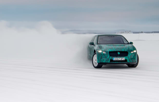 Watch the All-Electric Jaguar I-PACE Rip Around Snowy Sweden