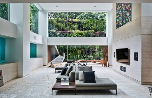 Yes, That's a Swimming Pool in the Living Room Wall