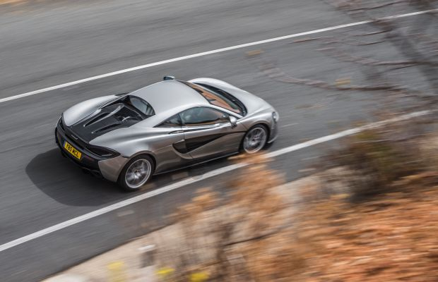 Watch Neck-Snapping Footage of a McLaren 570S on Both Road and Track