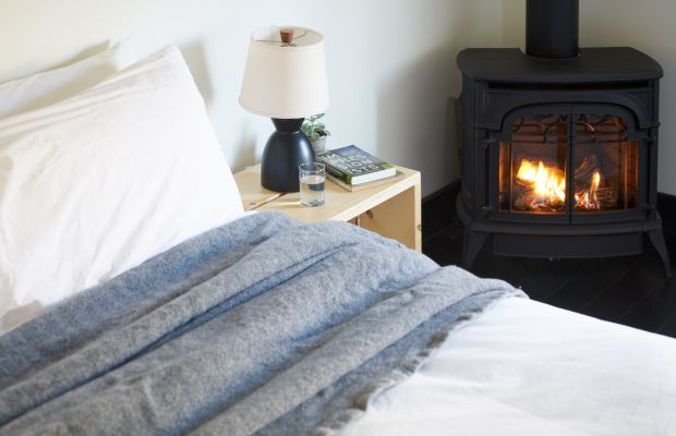 Inside a Cozy Mountain Lodge Turned Modern-Day Luxury Retreat