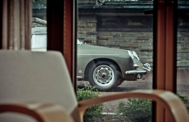 Nothing Goes Together Like a Porsche 356 and Frank Lloyd Wright Architecture