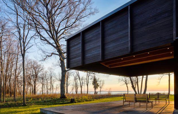 This Stunning Modern Home Rests Above Lake Michigan