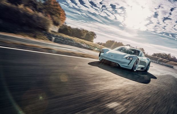 On the Track in Germany With the All-Electric Porsche Mission E