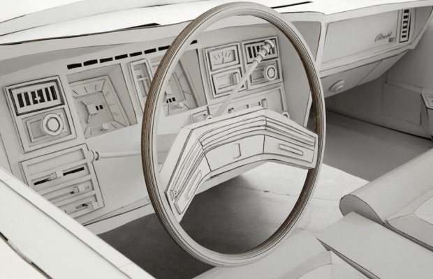 Awesome Artist Recreated A Lincoln Continental Complexly Out Of Cardboard