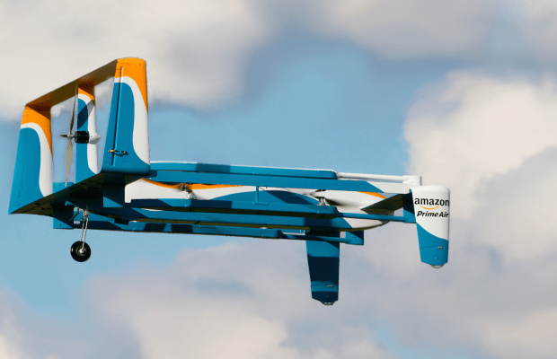 Jeremy Clarkson Showcases Amazon's Updated Drone Delivery Service