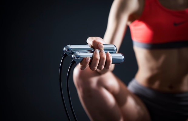 This Jump Rope Displays A Hologram Of Your Jump Count In Mid-Air