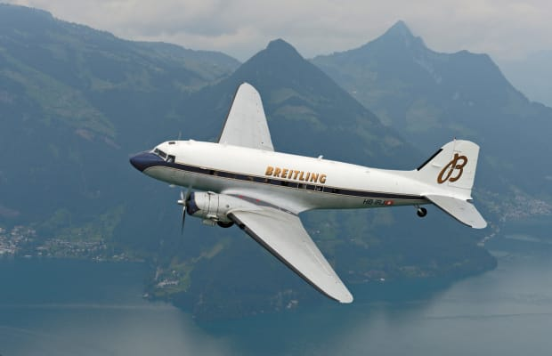 Breitling Restored an Iconic Plane to Deliver Limited Edition Timepieces in Style