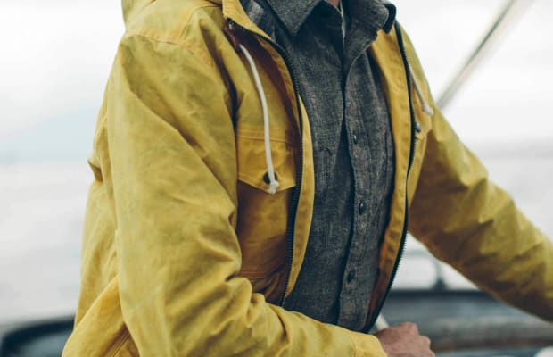 This Mid-Season Beeswaxed Canvas Jacket Is Made for Stylish Adventures