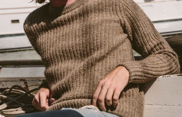 This Wool and Alpaca 'Whaler' Sweater is for Style-Conscious Seafarers
