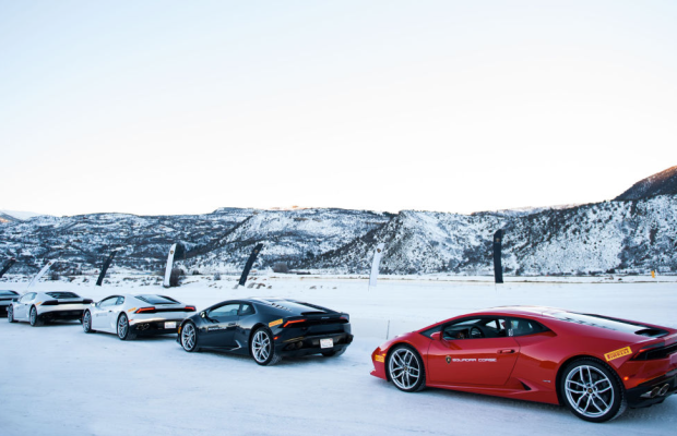 Who Wants to Take the Lamborghini Huracán for a Spin in the Snow?