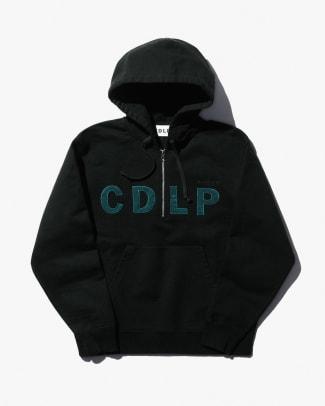 CDLP_MOBILITÉ_HEAVY_TERRY_HALFZIP_HOODIE_BLACK_TOP_FRONT_PRESS