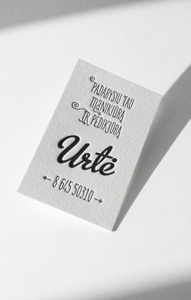 24 Beautiful Examples Of Letterpress Business Cards