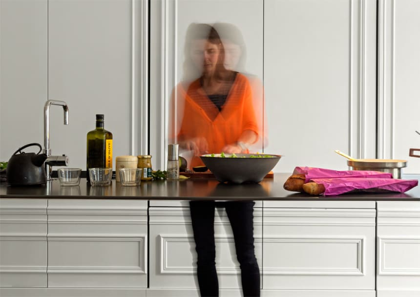 This Invisible Kitchen Only Appears When Needed