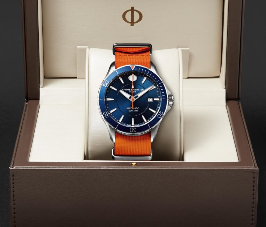 Baume & Mercier's Dive Watch Collab With MR PORTER Will Keep You Cool All Summer