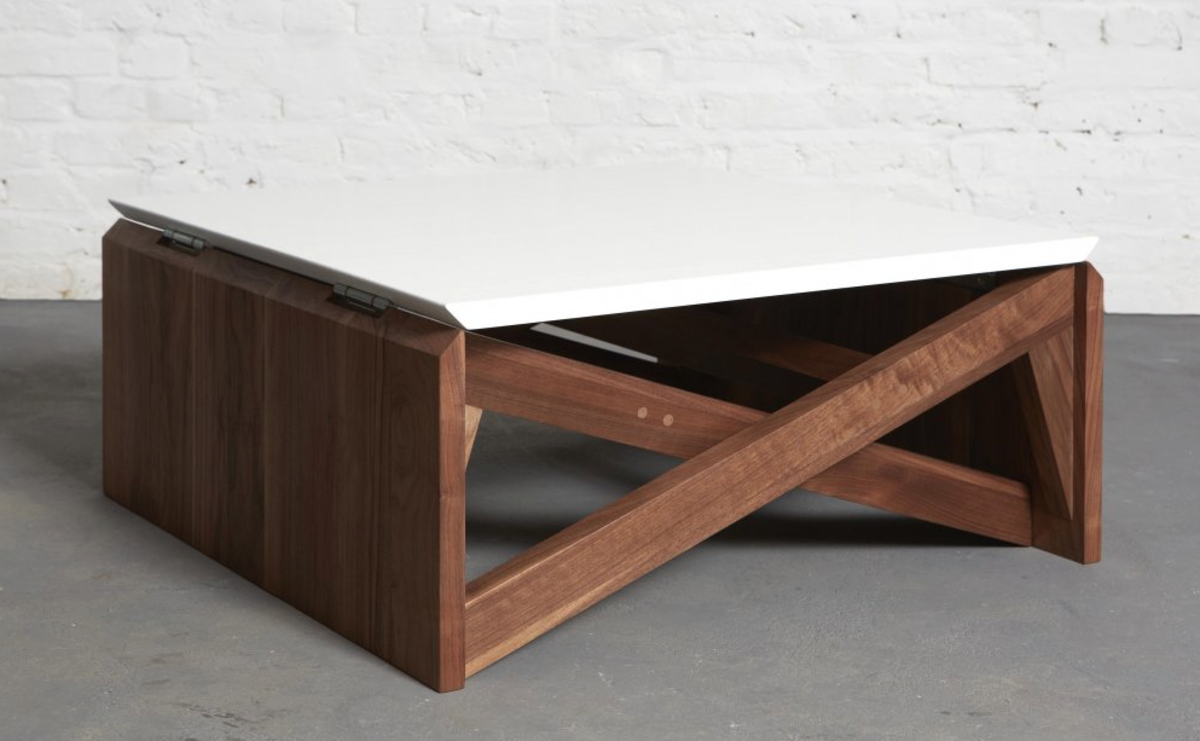 This minimal coffee table easily transforms into dining room table screen shot 2013 12 23 at 121251 pm geotapseo Gallery