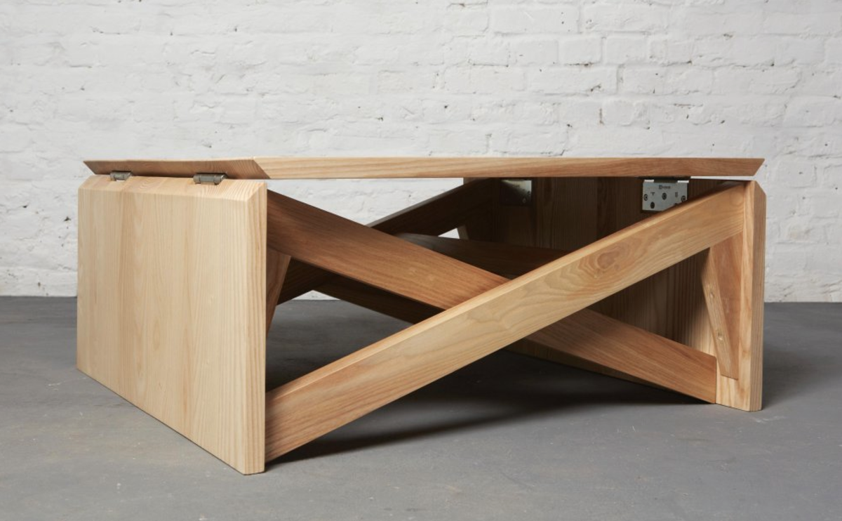 This Minimal Coffee Table Easily Transforms Into Dining