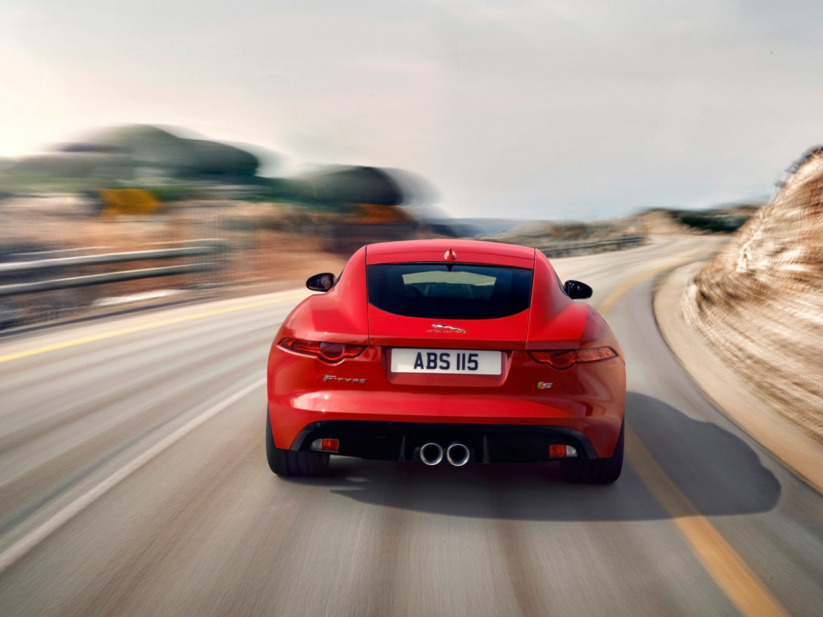 2014-Jaguar-F-Type-R-Coupe-Red-Rear