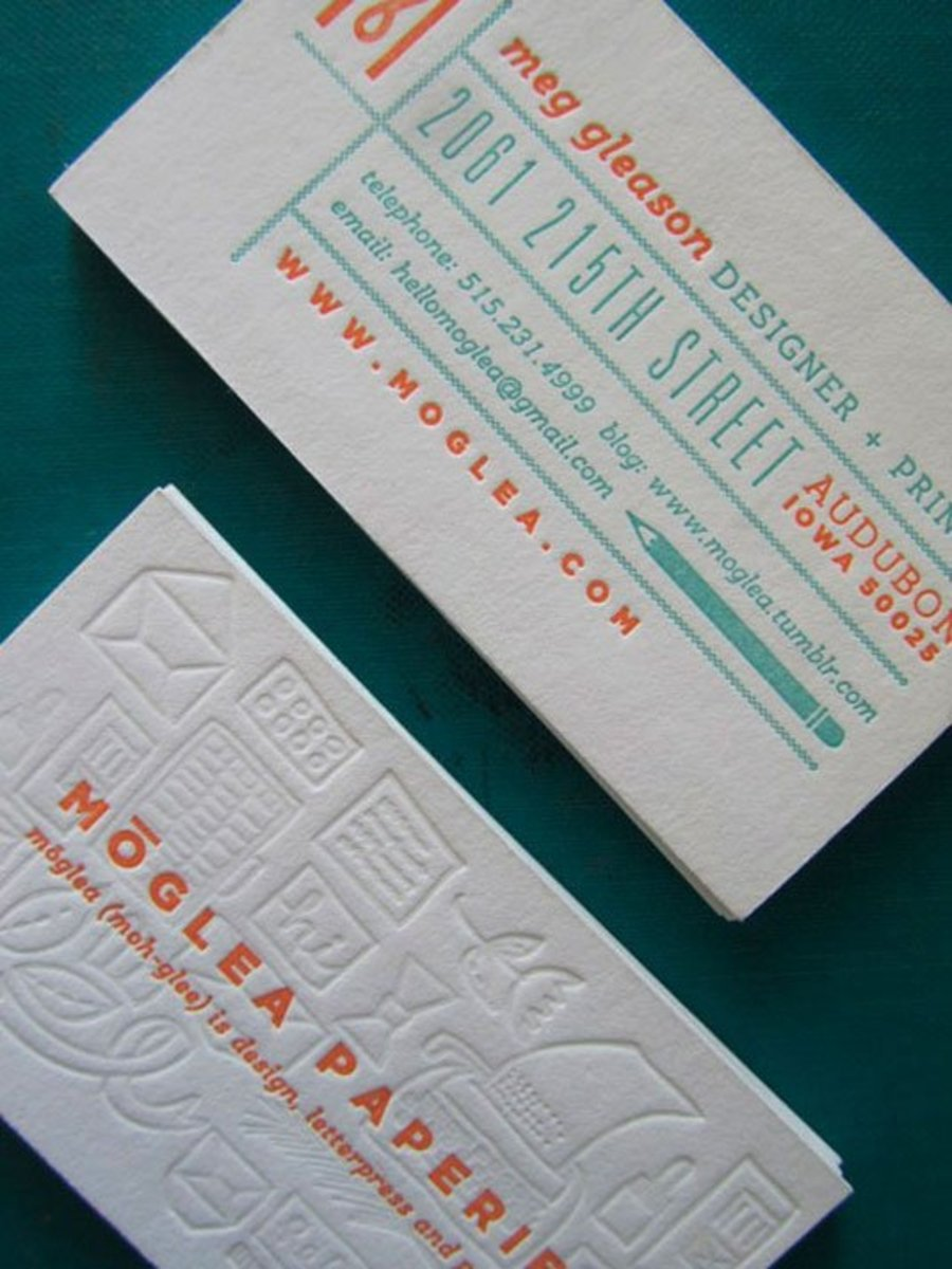24 beautiful examples of letterpress business cards airows meggleason colourmoves