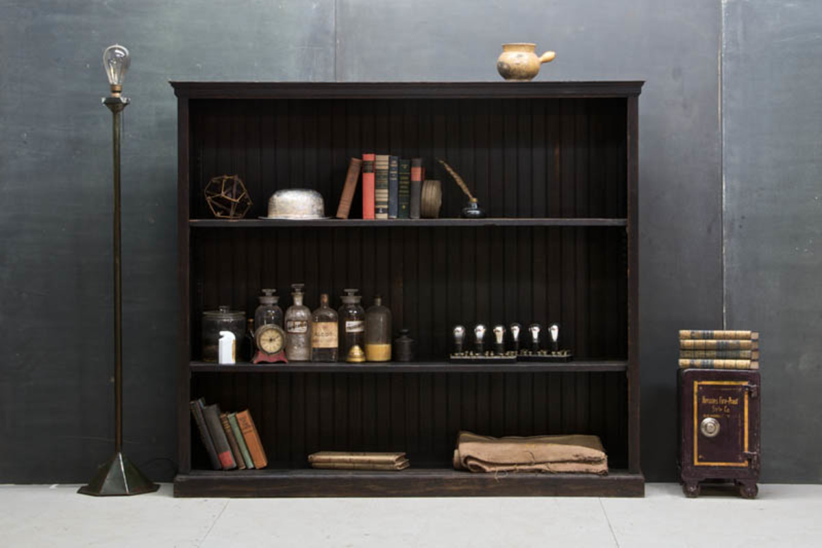 rustic-victorian-black-paneled-bookcase
