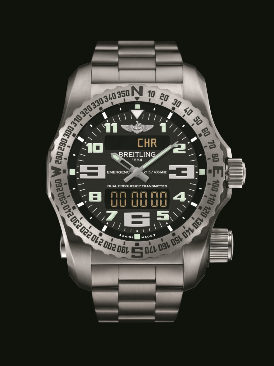 Breitling Emergency II_Volcano Black Dial_Front
