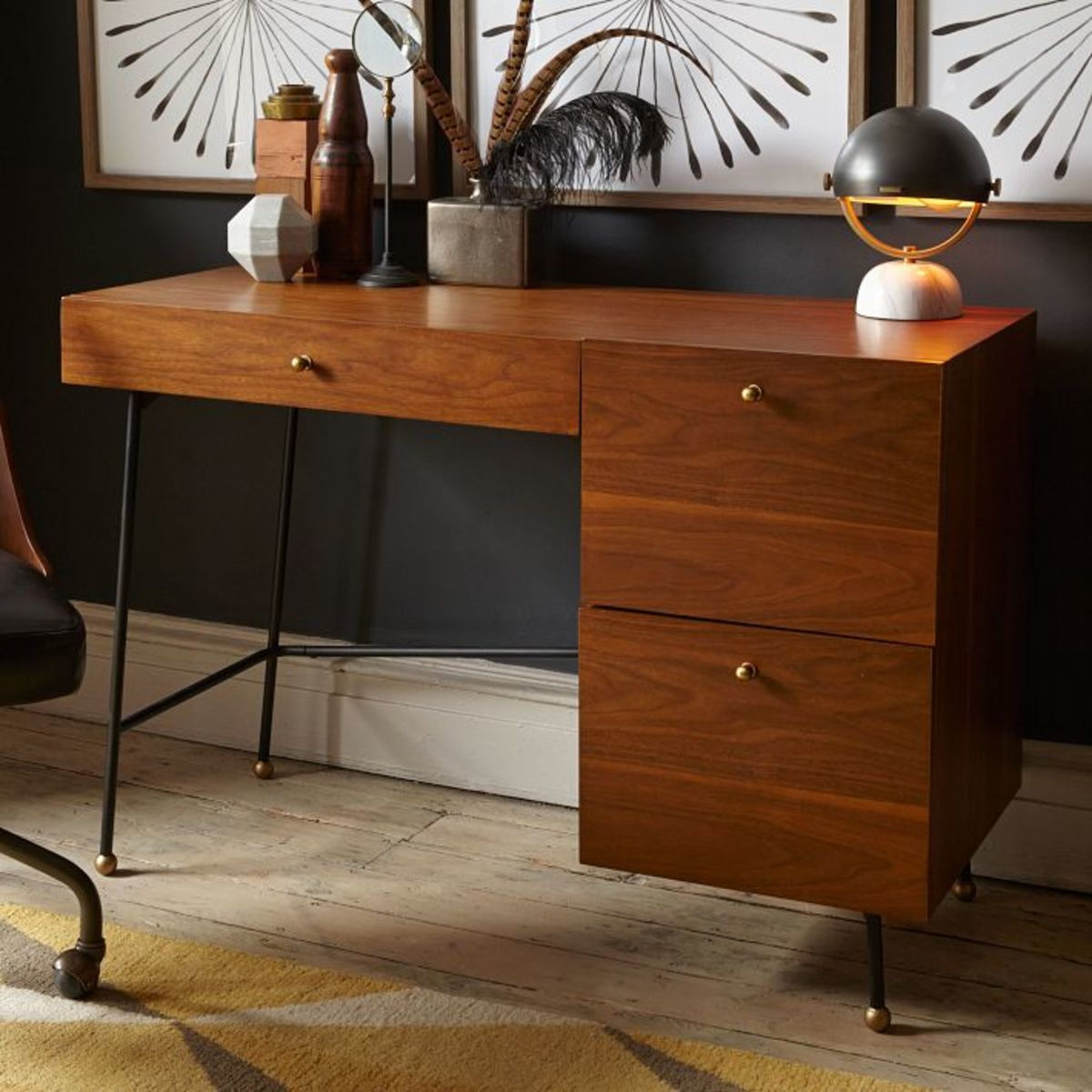 Grhopper Desk If You Don T Have A Lot Of E This Mad Men Style Would Look Great In Homes That Either Traditional Mid Century