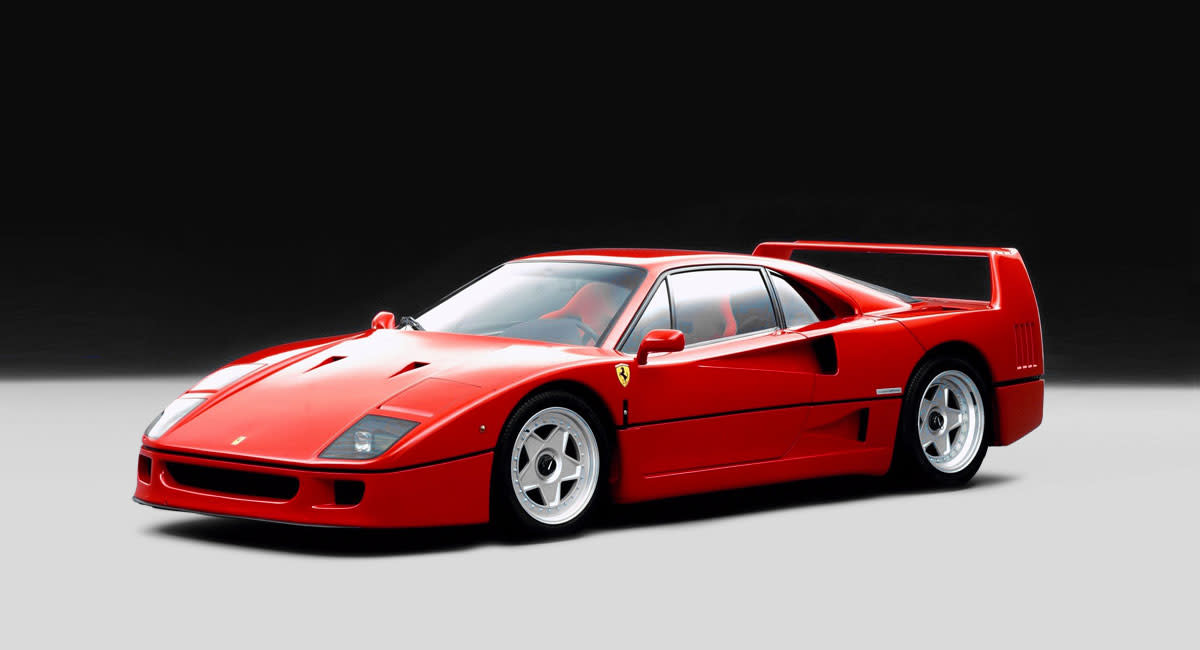 Ferrari-F40-front-side