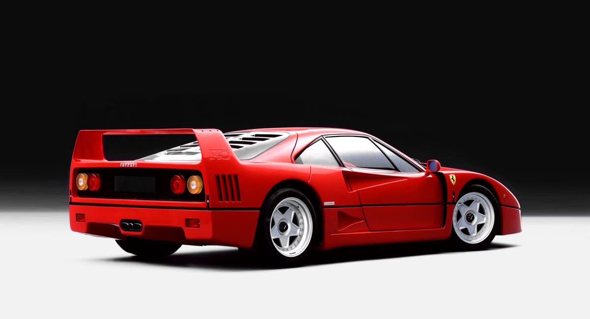Ferrari-F40-rear-side