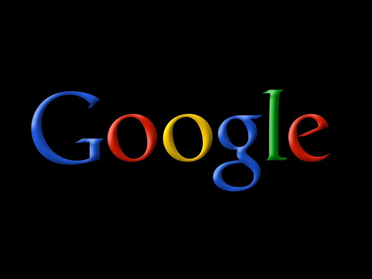 black-google-background